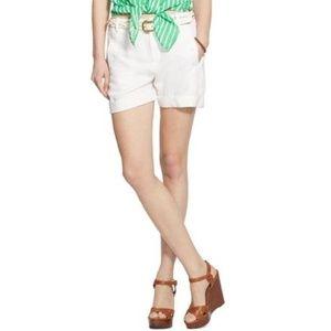 Lauren Ralph Lauren white linen blend shorts